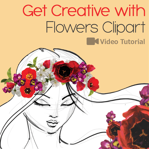 how to edit drawings with flower clipart