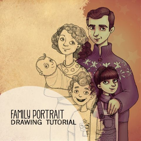 How to Draw a Family Portrait