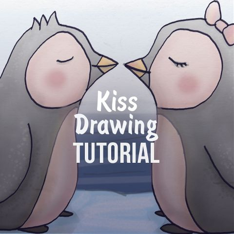 how to draw the perfect kiss with PicsArt