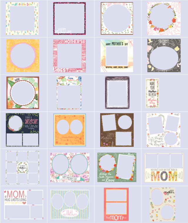mother's day frames package