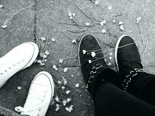 black & white flower spring bf shoes