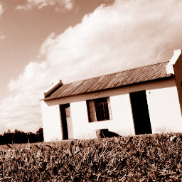 old photo sepia house house countryside