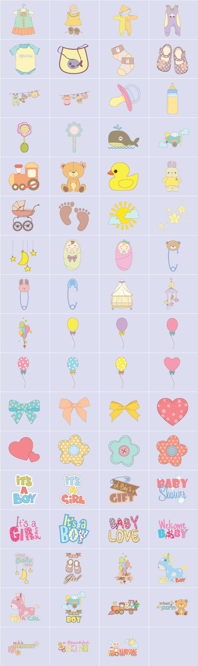 bably love clipart package