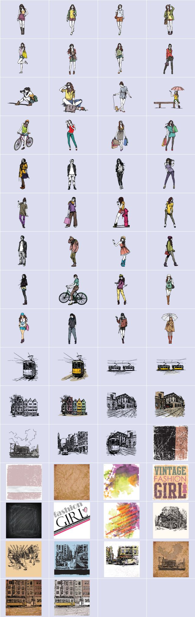 street fashion clipart package