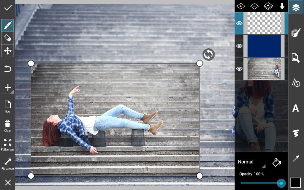 how to levitate using PicsArt photo editor