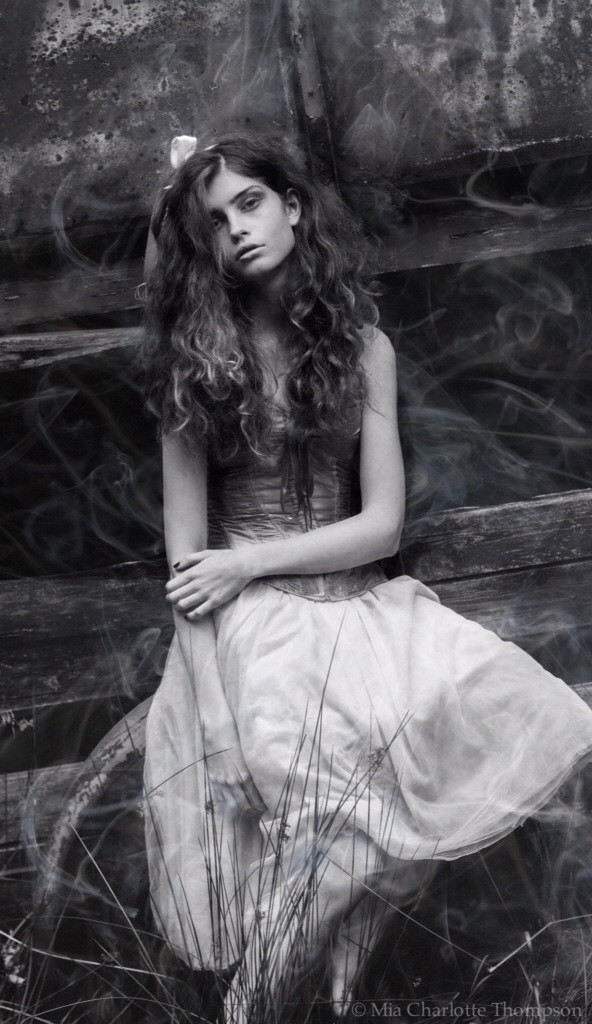 Ghostly photo of M.Palk #photography #beautiful #model #vintage #black & white #halloween