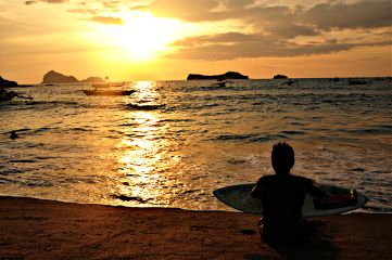 sun sunset zambales philippines beach