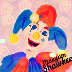 dcclown happy colorful i wanna win art
