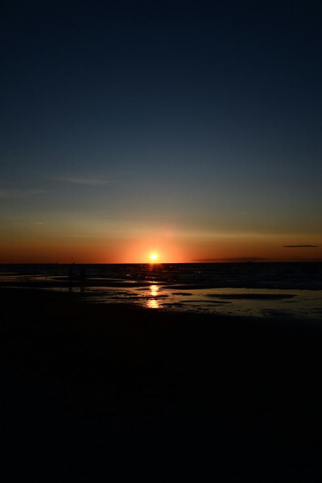 Beautiful sunset in Ustka,  Poland ♡♡♡