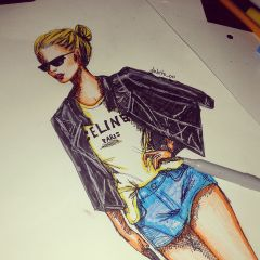 cute girls draw drawing fashion