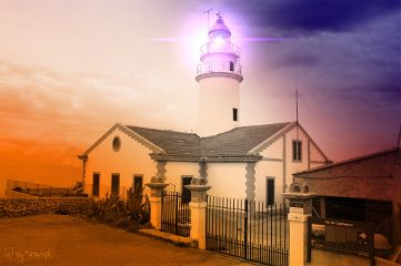 lighthouse spain mhnec blackandwhite colorful