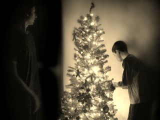 christmas christmastree winter sepia