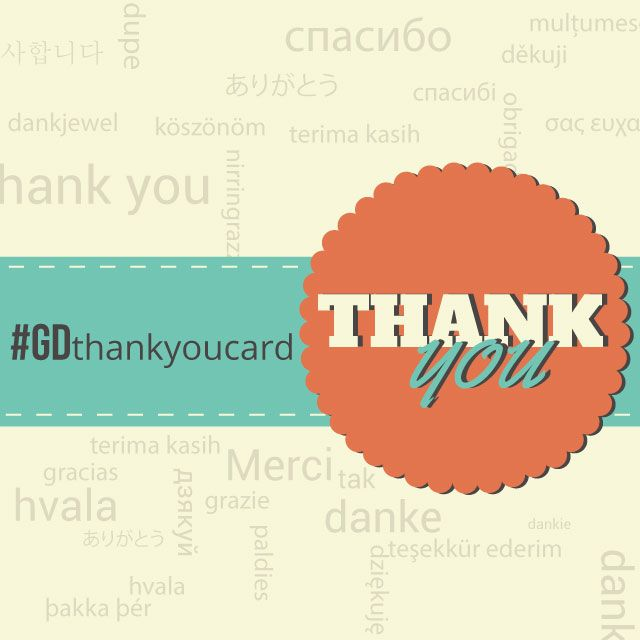 thank you card graphic design contest