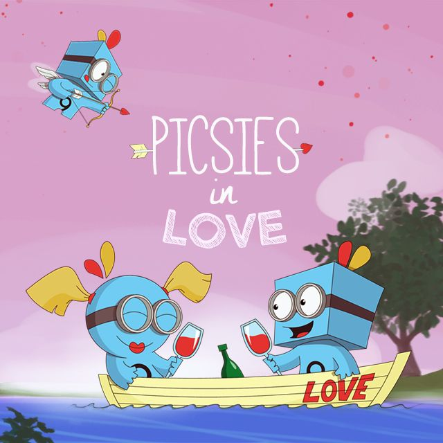 picsies in love on Valentine's day