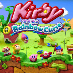 rainbow kirby color videogame grassfield
