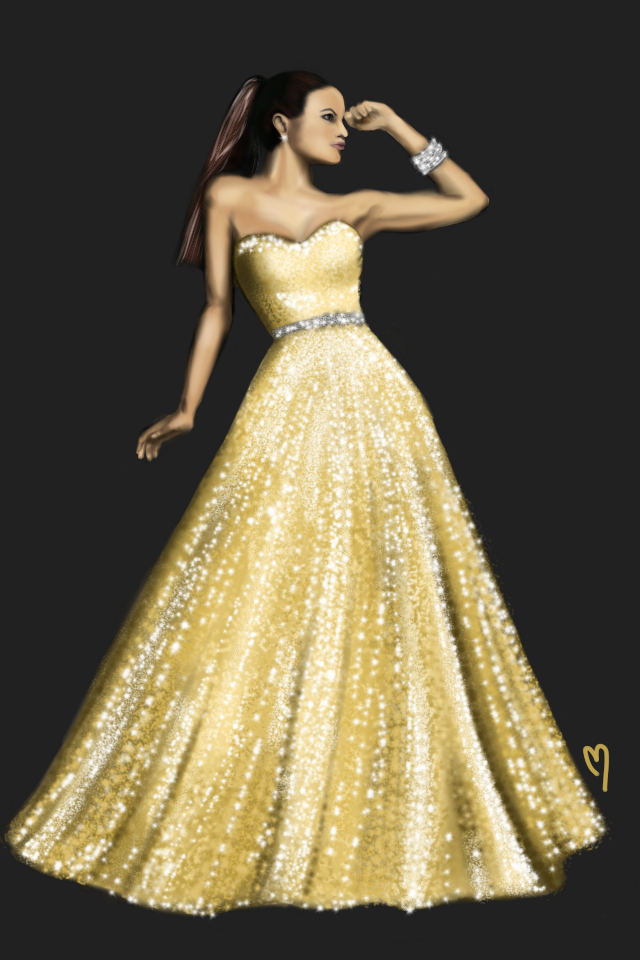 I drew this on sketchbook. Google photo reference used. #art #digitaldrawing #drawing #portrait #woman #gown